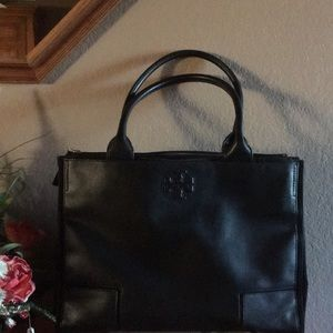Tory Burch Ella Canvas Leather Large Totes